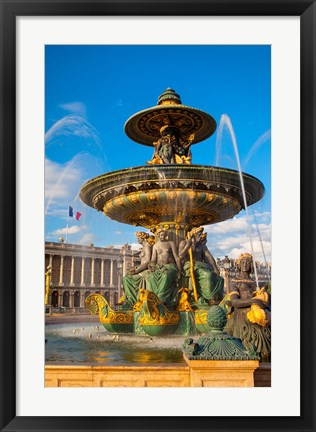 Framed Fountain of River Commerce and Navigation Print