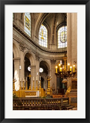 Framed Interior of Eglise Saint Sulpice, Paris, France Print