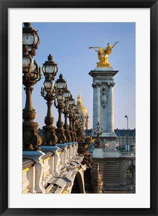 Framed Pont Alexandre III, Paris, France Print