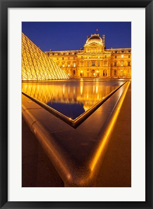 Framed Reflections at Musee du Louvre, Paris, France Print