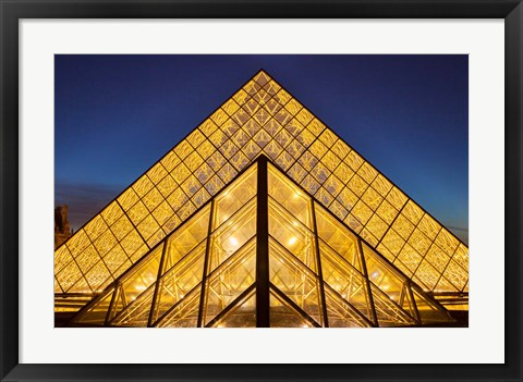 Framed Glass Pyramids Outside Musee du Louvre Print
