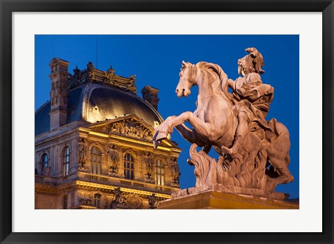 Framed Statue of Louis XVI Print