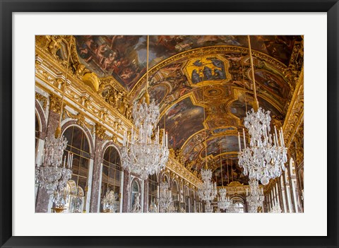 Framed Hall of Mirrors, Chateau de Versailles, France Print