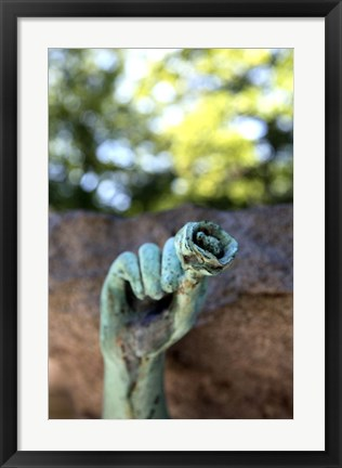 Framed Tomb Sculpture, Georges Rodenbach Print