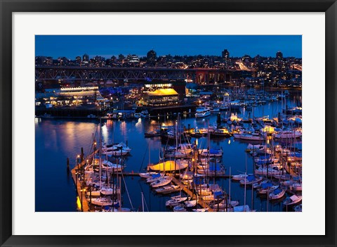 Framed British Columbia, Granville Island Print