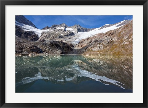 Framed Lake and Glacier Simonykees Print