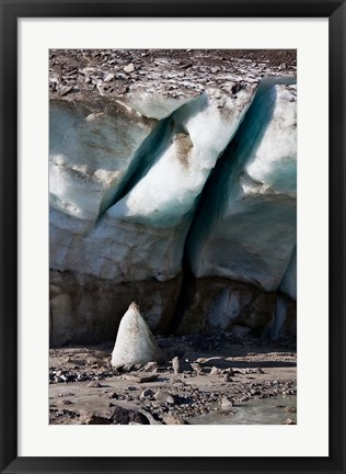 Framed Glacier Snout of Schlatenkees Print