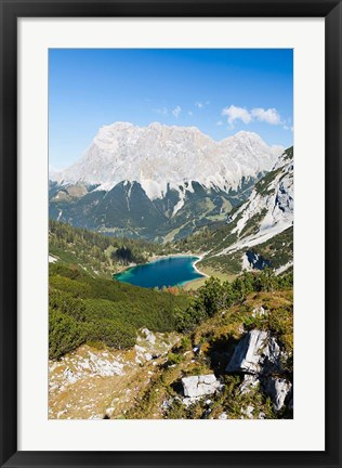 Framed Seeben Lake, Mieminger Mountains Print