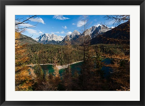 Framed Wettertein and Mieminger Mountains Print