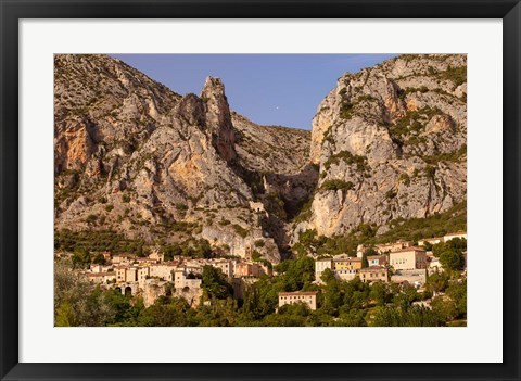 Framed Moustier-Sainte-Marie, France Print