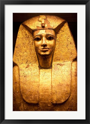 Framed Pharaoh Coffin, France Print