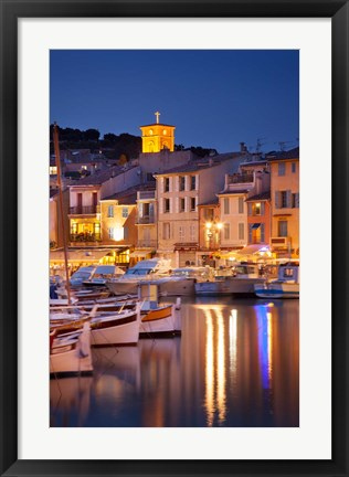 Framed Cassis at Twilight Print