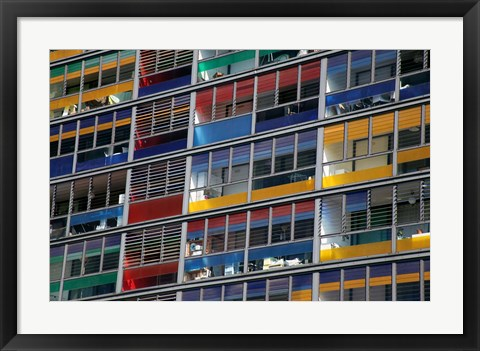Framed Colorful Windows near Lille Station Print