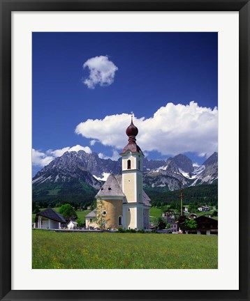 Framed Church at Going, Tyrol, Austria Print
