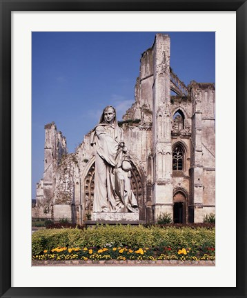 Framed Ruins of St Bertin Abbey, St Omer, France Print
