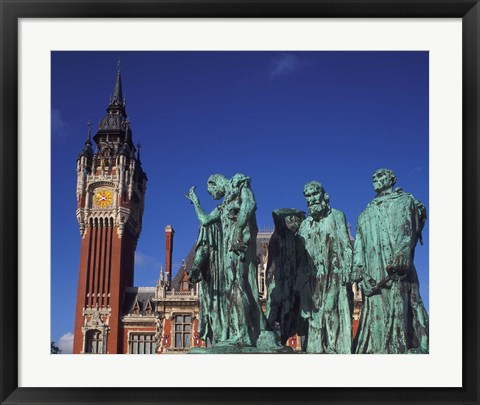 Framed Town Hall and Six Burghers, Calais, France Print