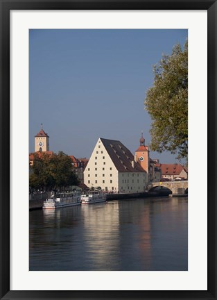 Framed Danube River Salt House Print