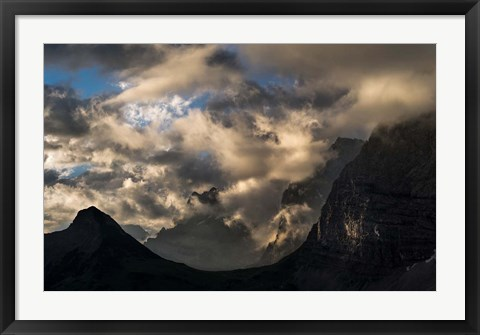 Framed Sunrise over Karwendel Mountains Print