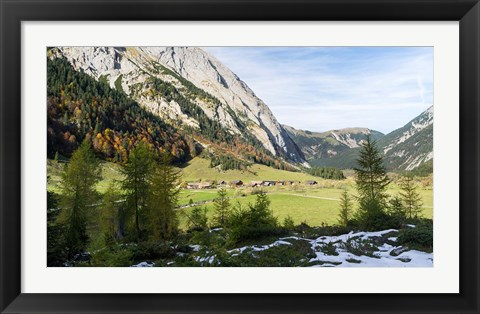 Framed Eng Valley, Karwendel Mountains Print