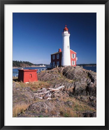 Framed Fisgard Lighthouse, Fort Rodd Print