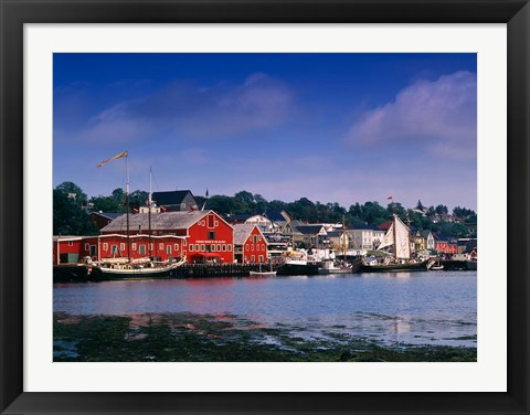 Framed Atlantic Fisheries Museum and Lunenburg Harbor Print
