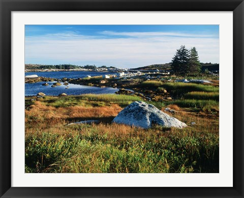 Framed Nova Scotia Coastline Print