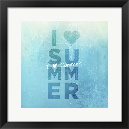Framed I Heart Summer Print