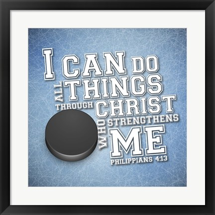 Framed I Can Do All Sports - Hockey Print