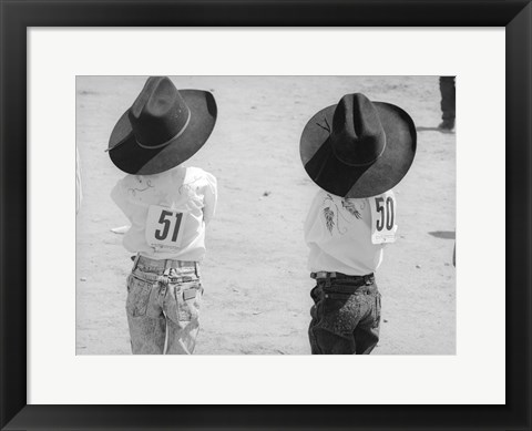 Framed Littlest Cowboys: 50 & 51 Print