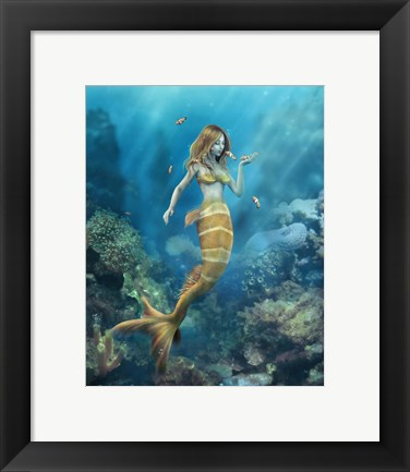 Framed Clown Fish Kiss Print
