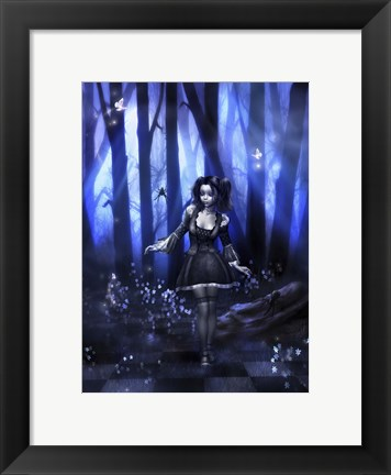 Framed Miss Muffet Print