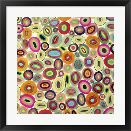 Framed Running In Circles Print