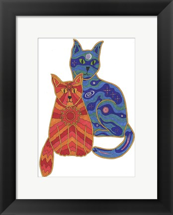 Framed Night and Day Cats Print