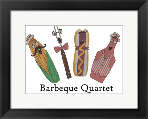Framed Barbeque Quartet Print