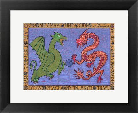Framed Dragons Print