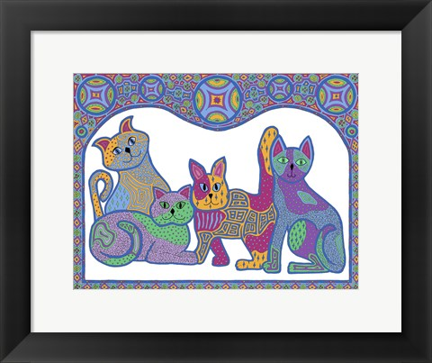 Framed Calico Cats Print