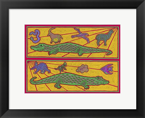Framed Alligators Print