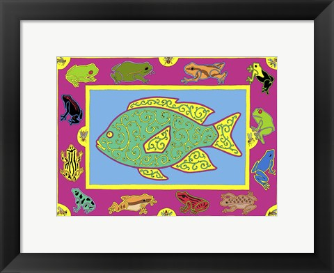 Framed F Fish Print