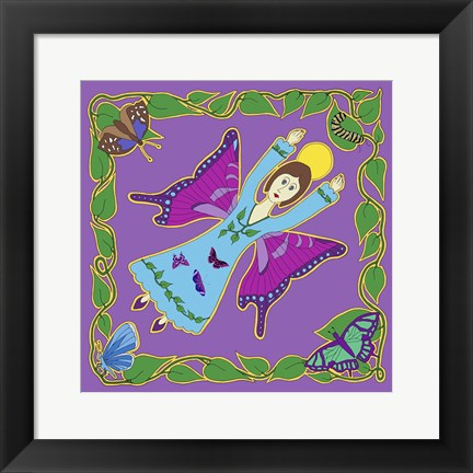 Framed Butterfly Angel Print
