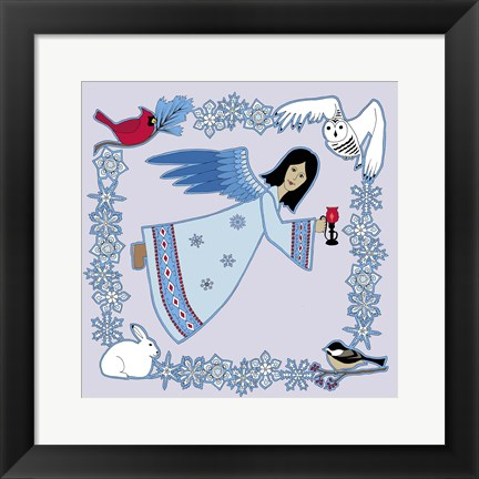 Framed Winter Angel Print