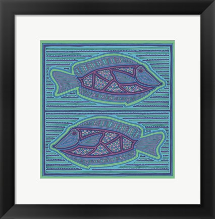 Framed Square Fish Print
