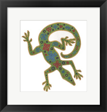 Framed Lizard Celtic Knots Print