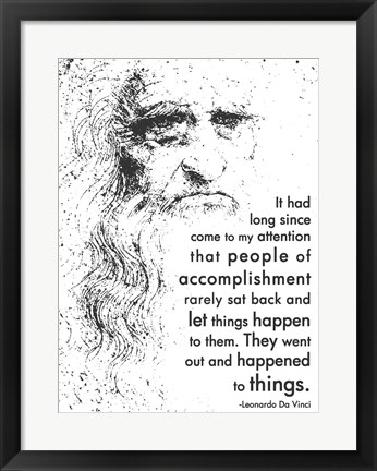 Framed People of Accomplishment -Da Vinci Quote Print