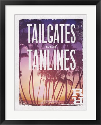 Framed Tailgates and Tanlines Print