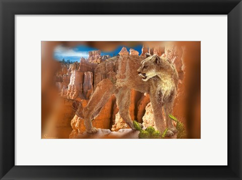Framed Hidden Canyon 7 Print