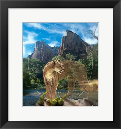 Framed Lion Of Zion Print