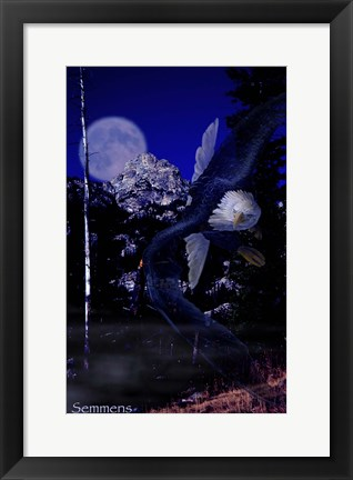 Framed Moonlight Prey Print
