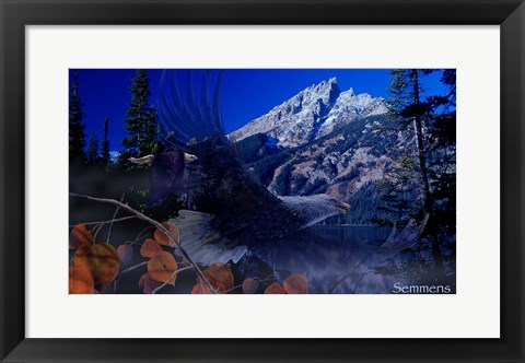 Framed Teton Autumn Print
