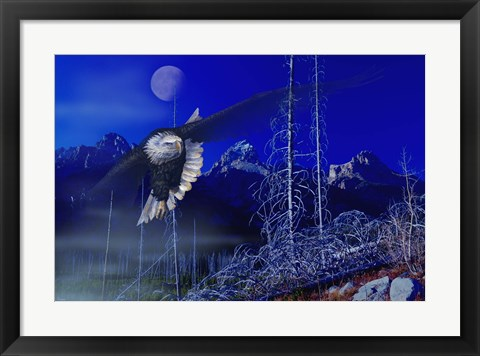 Framed Misty Moonlight Print