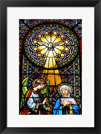 Framed Stained Glass IV Print